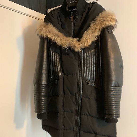 RUDSAK Jackets & Blazers - Fitted Down coat with leather